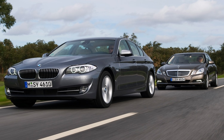 comparison 2011 bmw 535i vs 2010 mercedes benz e350 [ 1190 x 744 Pixel ]
