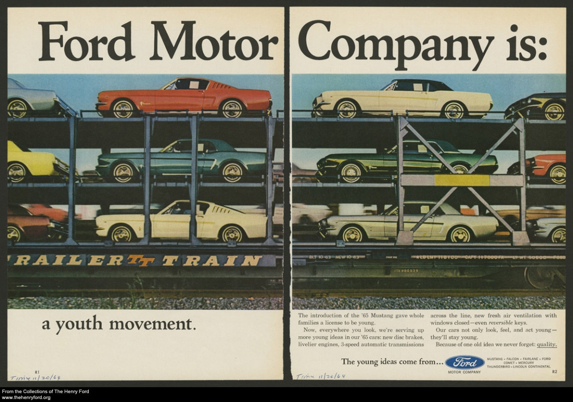 Vintage Ads 19641967 Ford Mustang  Pick Your Favorite