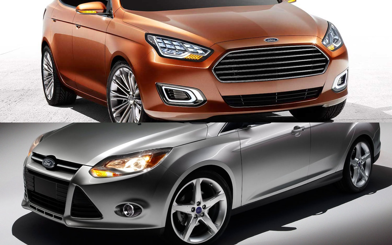 Ford Escort Concept vs Focus Sedan  Which Would You Pick