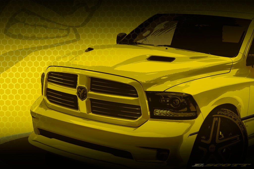 ram rumble bee concept teased before woodward debut [ 1190 x 790 Pixel ]