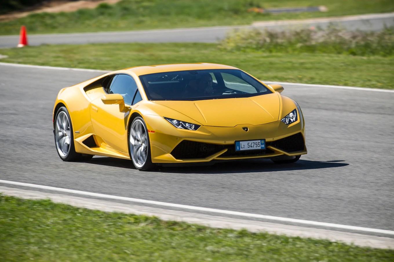Lamborghini Track Day! Randy Pobst Drives Three Huracáns