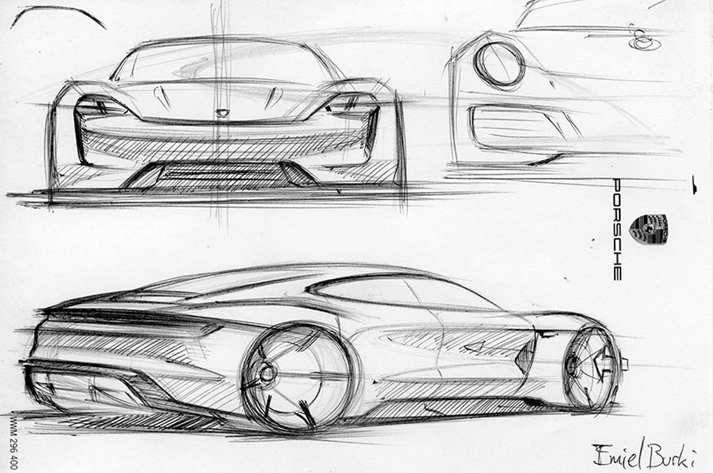 Porsche Mission E Concept Design Process Explored in New