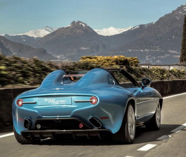 Alfa Romeo Disco Volante Spyder By Carrozzeria Touring Superleggera Rear Three Quarter In Motion Carol Ngo March