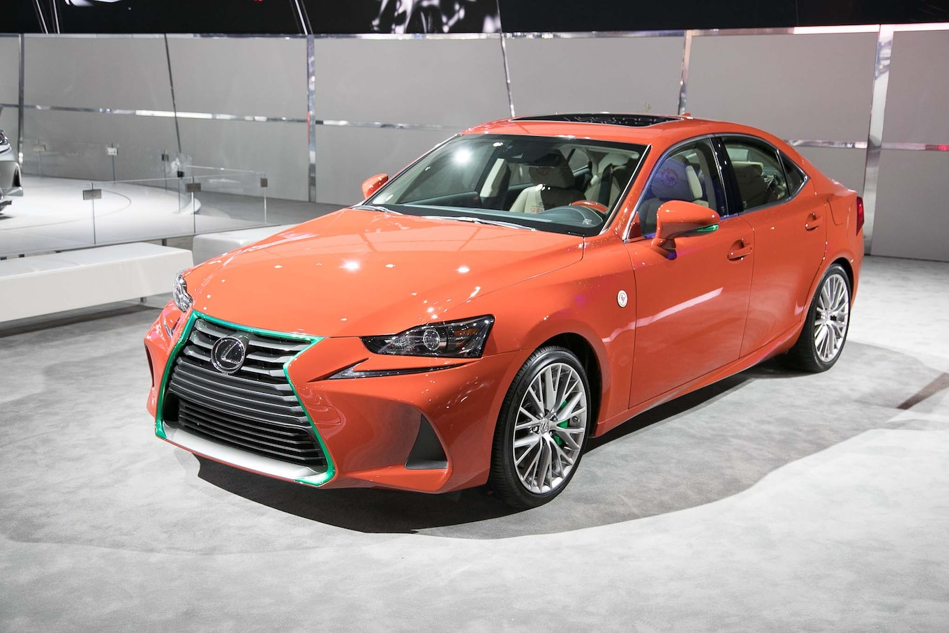 Lexus Heats up L A Auto Show With Sriracha IS Show Car Motor Trend