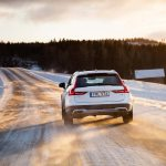 2017 Volvo V90 Cross Country rear end in motion 02
