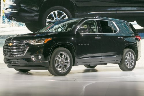 small resolution of 2018 chevrolet traverse first look going for a truckier look motor trend