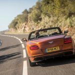 2017 Bentley Continental Supersports convertible rear end in motion 1