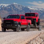 2017 Ram 2500 Power Wagon front three quarter in tow 02 1