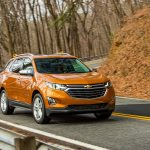 2018 Chevrolet Equinox front three quarter in motion 26