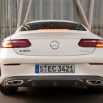 2018 Mercedes Benz E400 coupe rear end static 02 1