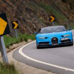 Bugatti Chiron front end quarter in motion 07