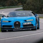 Bugatti Chiron front end quarter in motion 08