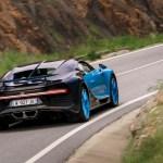 Bugatti Chiron rear three quarter in motion 05