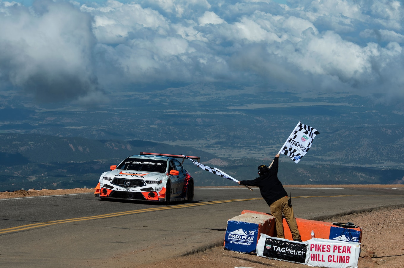 Acura TLX GT Race Car Finishes Second Overall at Pikes Peak