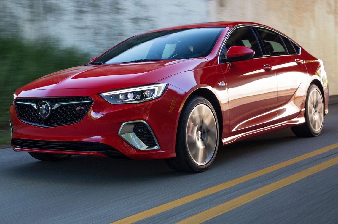 2018 buick regal gs first look: a v-6 powers the sporty hatchback