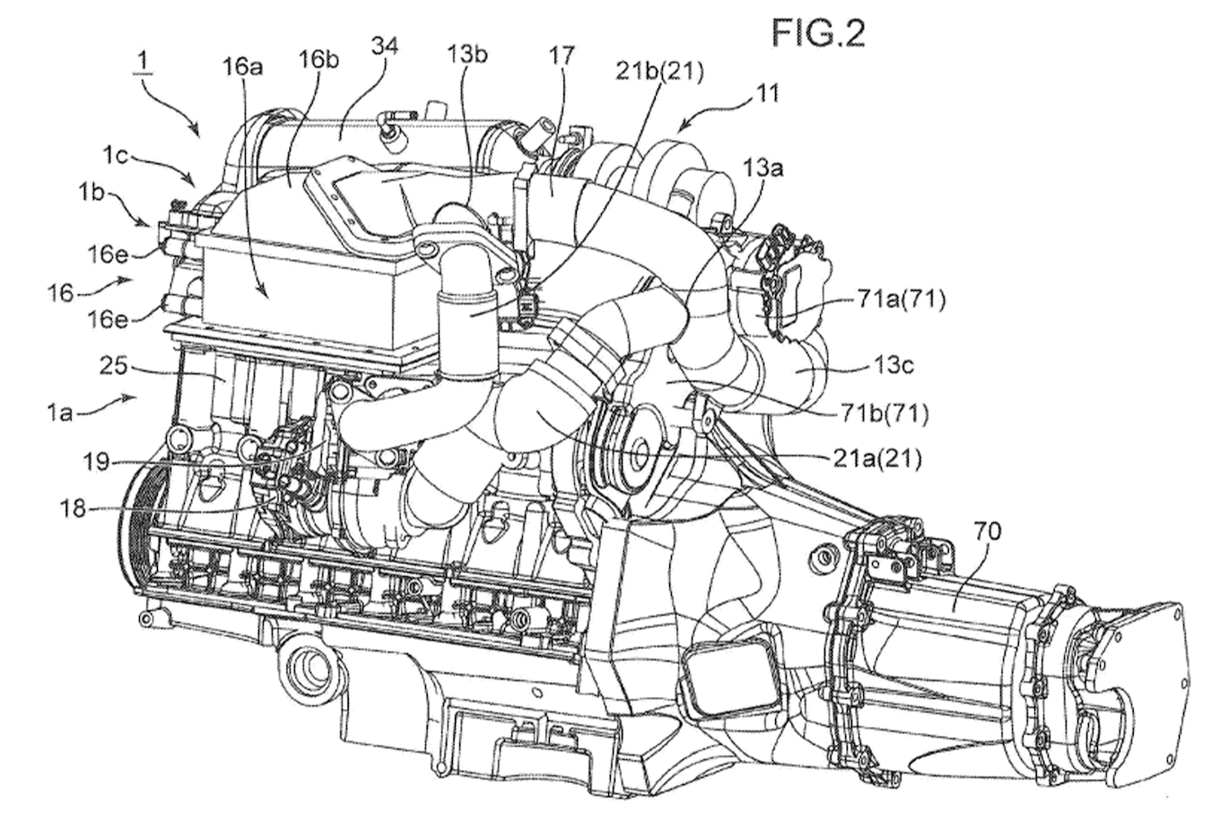 Mazda Patents Triple-Charged Engine With Electric