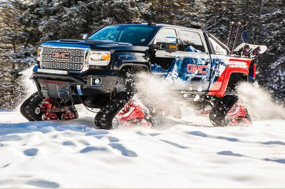 medium resolution of tracked gmc sierra 2500hd all mountain concept is a snow slayer