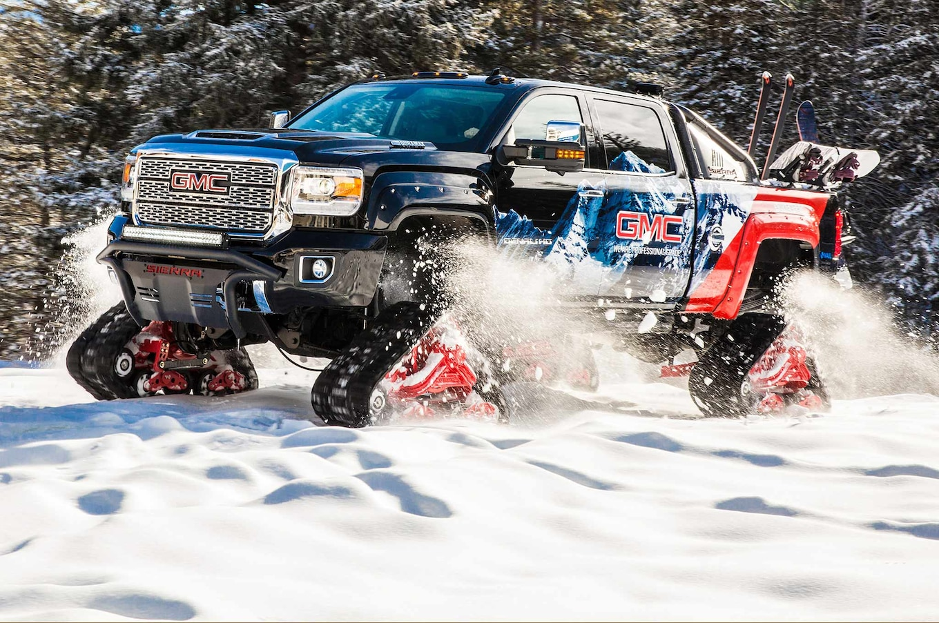 hight resolution of tracked gmc sierra 2500hd all mountain concept is a snow slayer