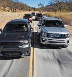 beasts of burden ford expedition vs chevrolet tahoe vs dodge durango vs toyota sequoia vs nissan armada motortrend [ 1360 x 903 Pixel ]