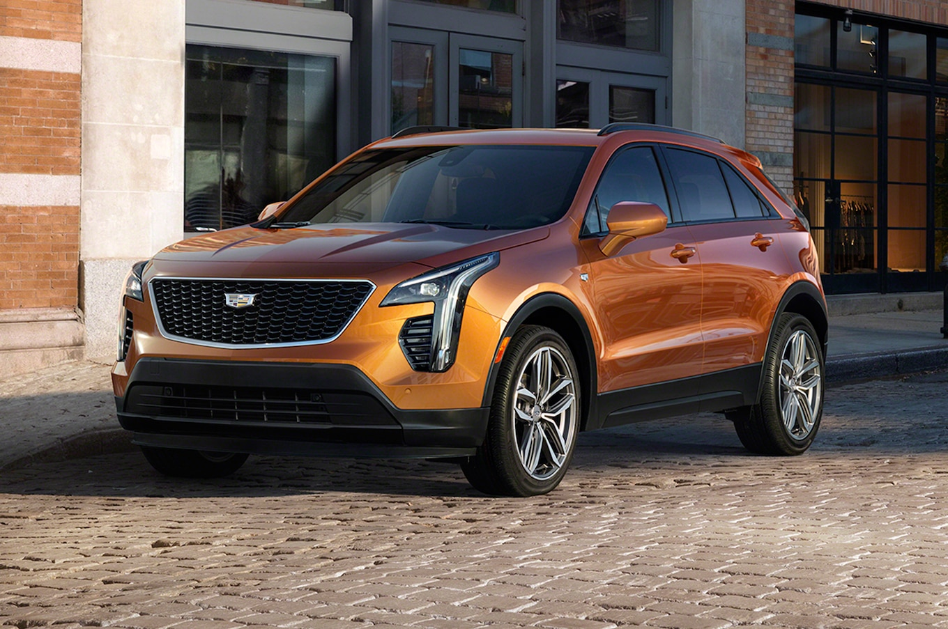 2019 Cadillac Xt4 First Look Opposite The Escalade