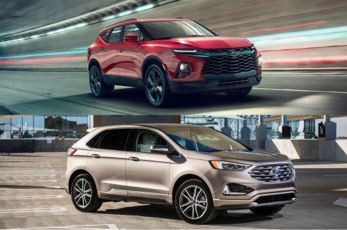 small resolution of refreshing or revolting 2019 chevrolet blazer vs ford edge motor trend