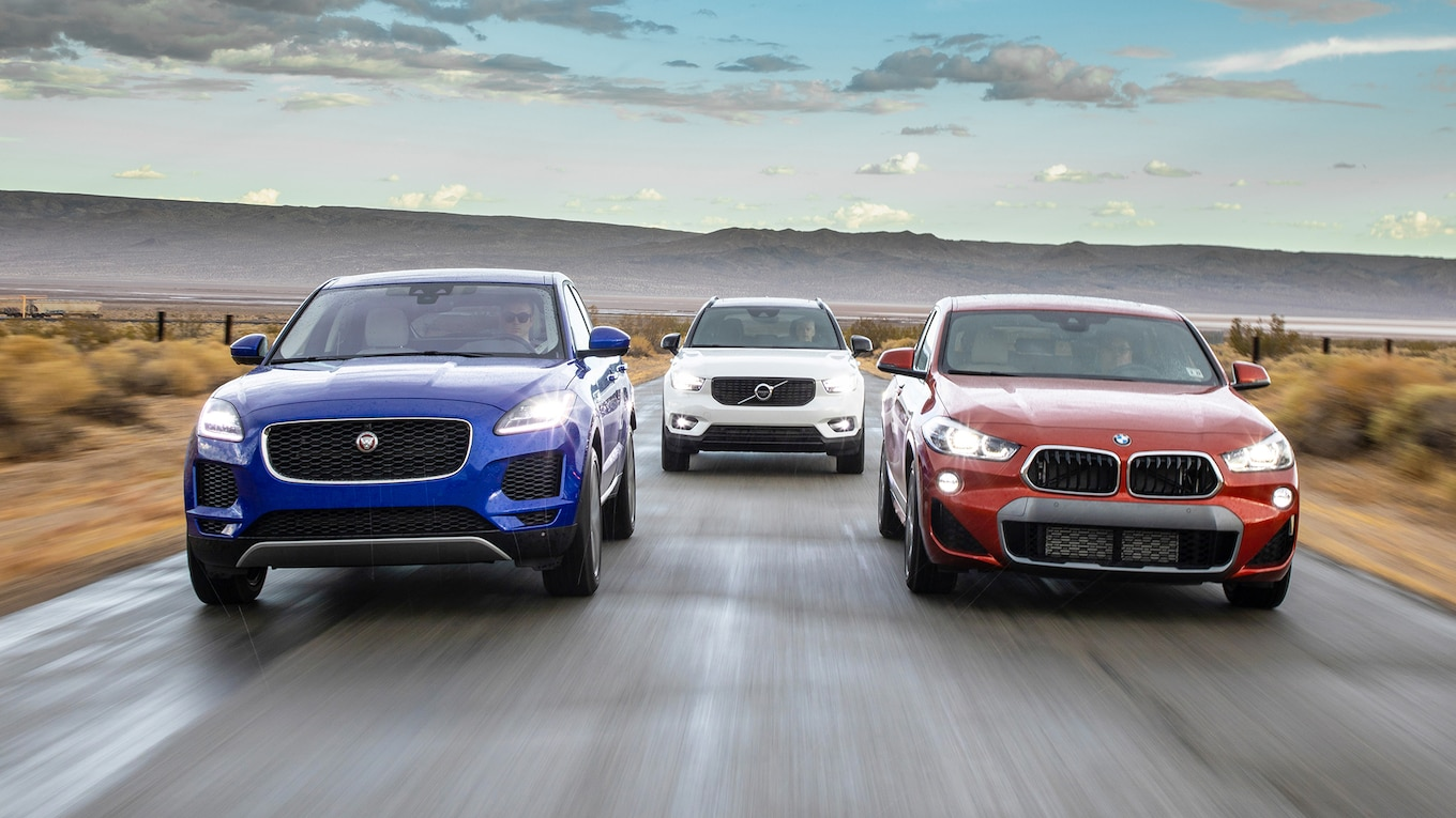 hight resolution of 2019 jaguar e pace vs 2019 volvo xc40 comparison motor trend