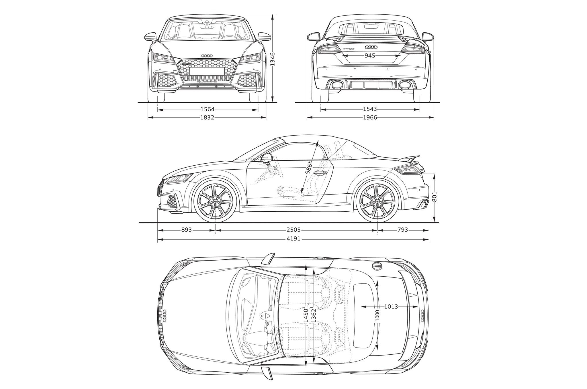 Audi TT RS 2017 llega con motor de cinco cilindros