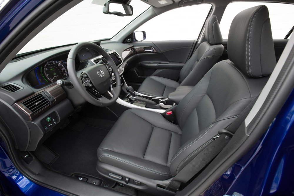 medium resolution of 2017 honda accord hybrid front interior