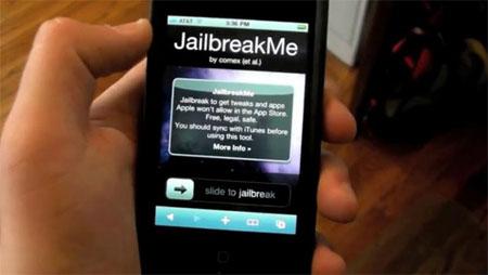 Jailbreak iPhone 4 không cần qua máy tính