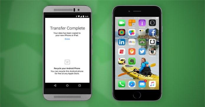 Chuyển dữ liệu từ Android sang iPhone cực dễ