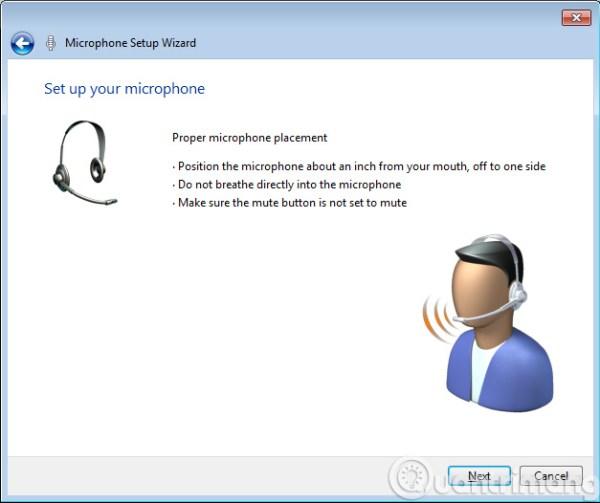 Tiến hành kiểm tra Microphone