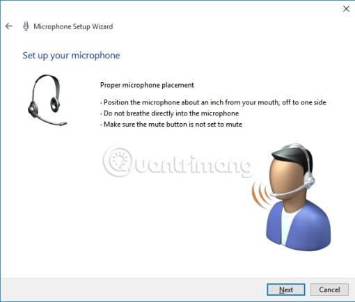 Kiểm tra kết nối microphone trên Windows 10