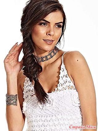. Белое вечернее платье Longo Branco – Linha Anne.