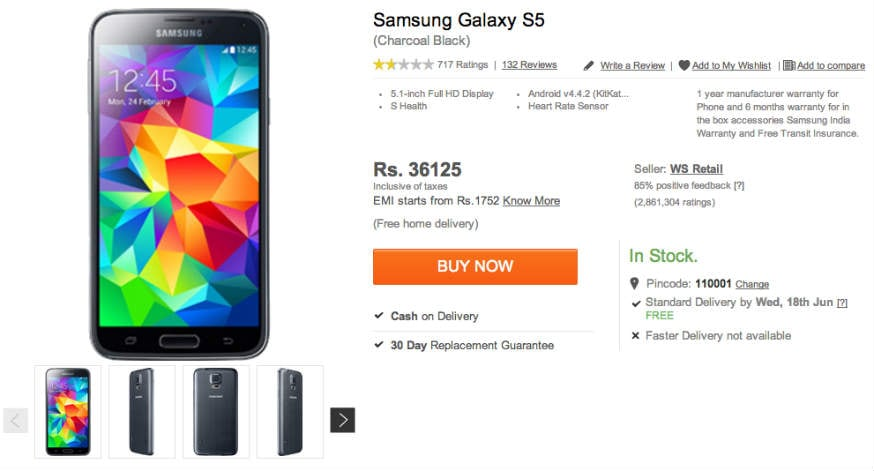 samsung-galaxy-s5-flipkart-price-in-india