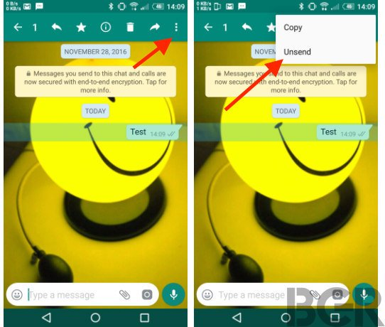Image result for whatsapp unsend feature