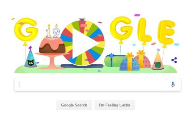Google S 19th Birthday Celebrated With A Surprise Spinner