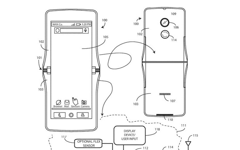 Motorola foldable smartphone could possibly look like its