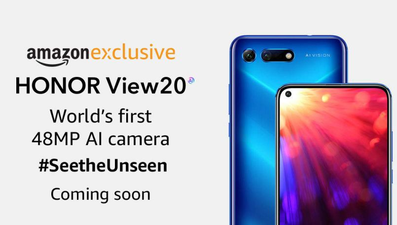 Honor V20 launching as Honor View20 exclusively via Amazon India; officially gets listed