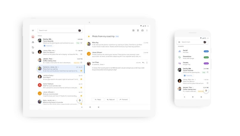 Google revamps Gmail for Android, iOS with new blindingly-white design; rolling out now