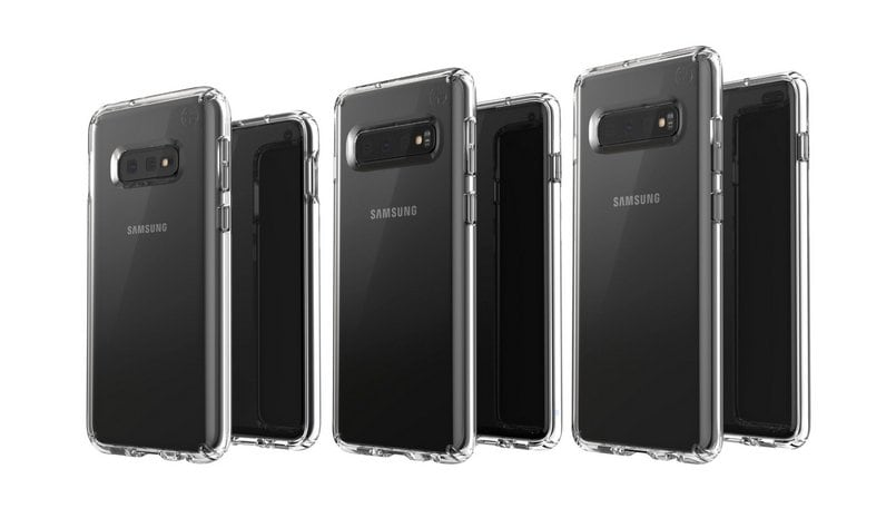 Samsung Galaxy S10, Galaxy S10E,  Galaxy S10+ renders with cases leaked online