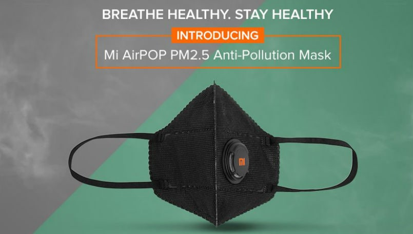 Xiaomi Mi AirPOP PM2.5 Air Pollution Mask launched in India, first sale at 12PM today