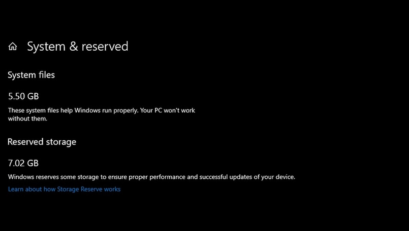 Windows 10 will soon 'reserve' 7GB of your HDD storage space for future updates