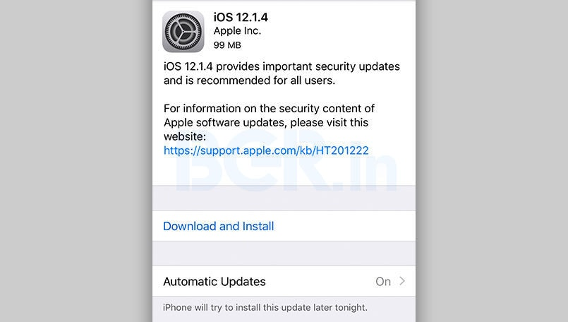 Apple iOS 12.1.4 is rolling out now; fixes the Group FaceTime security bug