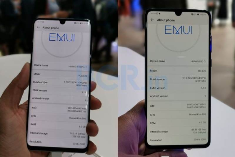 Huawei P30, P30 Pro latest update in China enables DC dimming display feature