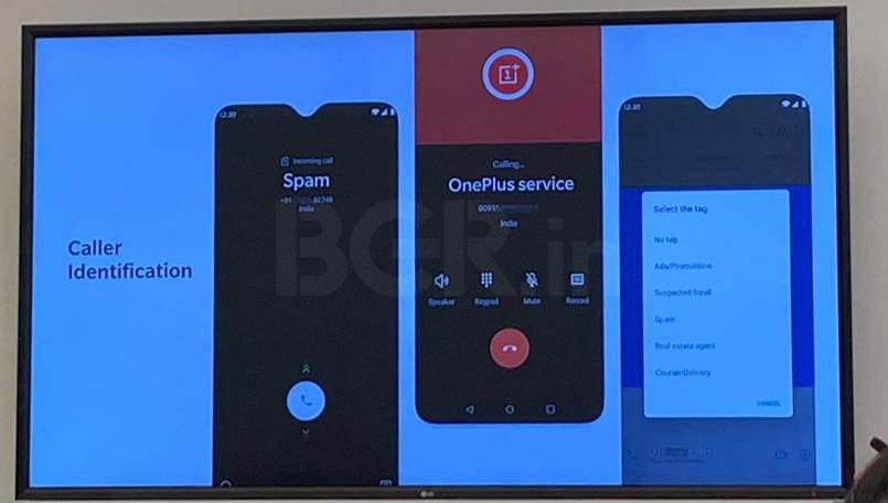 OnePlus OxygenOS India features Caller ID