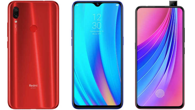 Xiaomi Redmi Note 7S vs Realme 3 Pro vs Vivo V15 Pro: Price in India, Specifications, Features compared