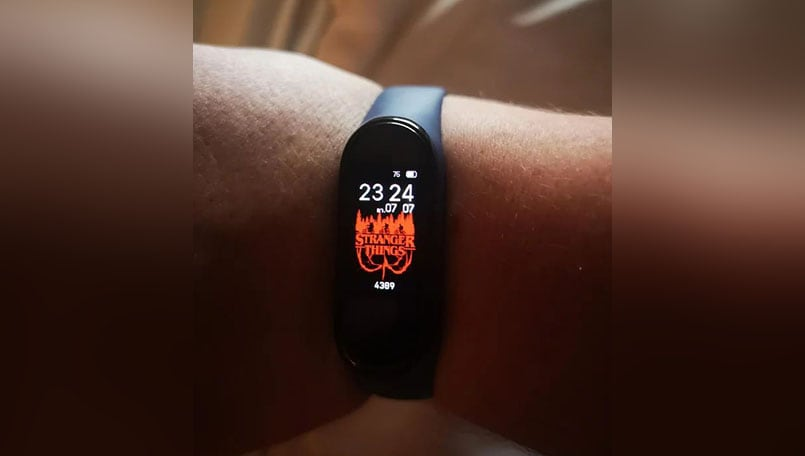 Xiaomi Mi Band 4 spotted with Stranger Things and other custom watch faces