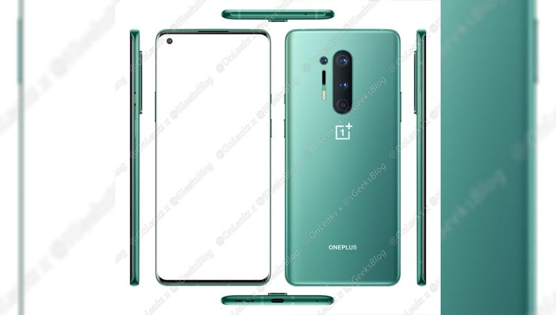 OnePlus 8 Pro press renders leak online; showcase a quad rear camera and more
