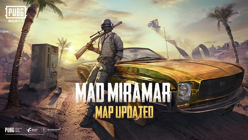 PUBG Mobile 0.18.0 update is now live with Mad Miramar, Golden Mirado