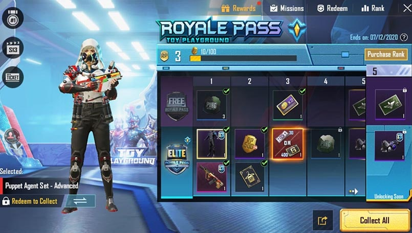 PUBG Mobile Season 13 Toy Playground Royale Pass is now live